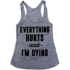 Everything Hurts and I'm Dying Triblend Eco-Tank - Everfitte - 1