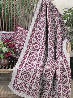 Ravelry: Scandinavian Stripes Afghan pattern by Lois S. Young-free pattern