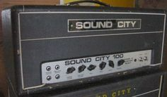 Sound city amp looks very similar to a hiwatt.