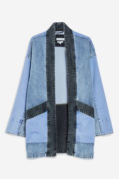 Denim Kimono Jacket by Native Youth Denim Kimono Jacket by Native Youth – Jackets & Coats – Clothing – Topshop Sewing Clothes, Diy Clothes, Clothes Swag, Jean Diy, Denim Mantel, Tokyo Street Fashion, Diy Jeans, Mode Jeans, Denim Ideas