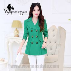 >> Click to Buy << WomensDate 2017 New Fashion Spring Women Slim Short Trench Coat Long-sleeved Double-breasted Women's Trench Coat 3 Colour #Affiliate