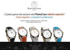 "Sorteamos 1 reloj edición especial ""Marisa Cano"" valorado en 150 euros."