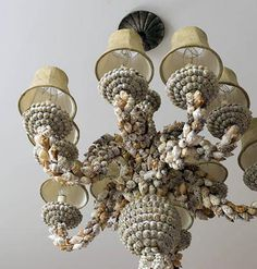daughters room- shell chandelier