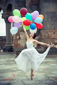 Professional artistic photoshoot - ballerina dancing