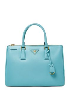 Saffiano Lux Leather Double Zip Medium Tote from Prada Handbags on Gilt