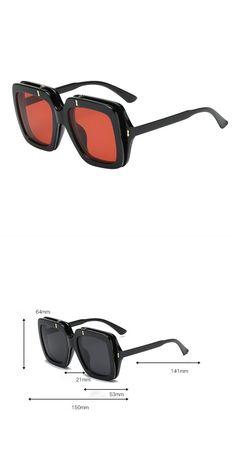 7accdca2d5c27 Square oversized sunglasses women double flip lens cover designer vintage  sun glasses brand shades gafas oculos de sol