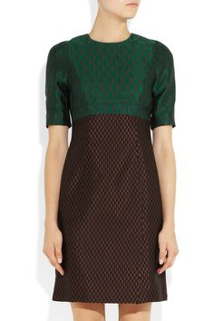 Jonathan Saunders 'Tiffany' wool and silk-blend brocade dress
