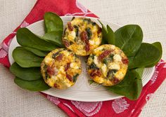 Mini Frittata with Spinach, Sun-dried Tomatoes & Goat Cheese -from Italian Food Forever