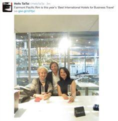 With Fairmont Pacific Rim developer-owner Ian Gillespie and Tourism Canada Director, Olga Illich,  太太 enjoying much Conde Nast Traveller magazine 'Best InternationHotel fo Brusiness Traveller 2015' - http://www.cntraveler.com/galleries/2015-02-09/the-best-international-hotels-for-business-travel-readers-choice-awards-2014