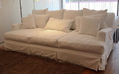 """love the idea of a DEEP couch... this one is 55"""" deep, deeper than a twin bed and perfect for lounging. I want this is the worst way."""