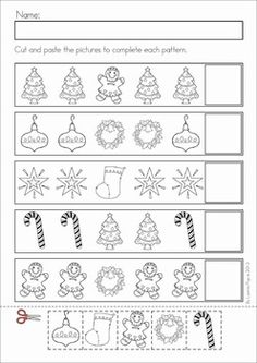 christmas math literacy worksheets activities no prep - Holiday Worksheets For Kindergarten