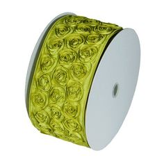 4' Wide x 10 Yards Rose Petal Rosette Ribbon with Wire Edge - Lime Green *** Check out the image by visiting the link.