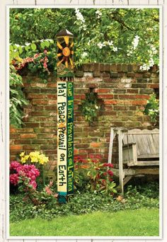 Scribbling With Spirit DIY Peace Pole for Garden Art Gardening