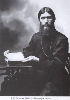 Rasputin 1900--Grigory Yefimovich Rasputin (1872-1916) was the infamous 'holy man' whose ability to heal the Tsar and Tsarina's son Alexis led to his being adopted as a supreme mystic at court.  Growing in influence to the point where he effectively dictated policy he was eventually assassinated by a group of court conspirators in December 1916