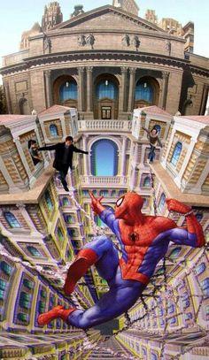 Spiderman 3D Street art Imagine if u were walking down the street and saw that :)3D §trëét årt, §ô bèæütïfùl