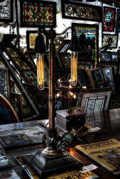 Steampunk Lamp by brockney52, via Flickr