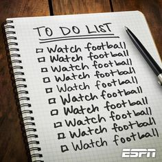 Watch football!!