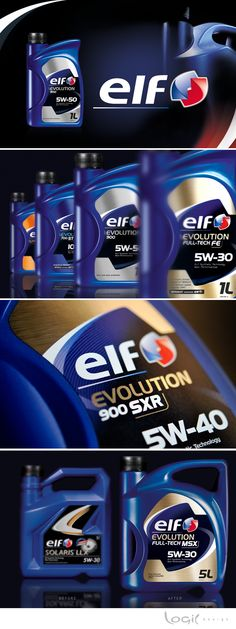 Redesign of the packaging architecture for Elf (automotive lubricants) More informations here : http://www.logic-design.eu/en/branding-packaging/un-grand-coup-daccelerateur/