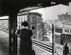 Arnold Eagle (1909-1992), Third Avenue El; Chatham Square Station, New York, ca. 1940.
