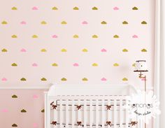 Cloud Wall Decal / Cloud Wall Sticker / Mini Cloud Decal / 64 clouds sticker / Kids Room decoration / Nursery Decal / gift by OhongsDesignStudio on Etsy https://www.etsy.com/listing/219519073/cloud-wall-decal-cloud-wall-sticker-mini