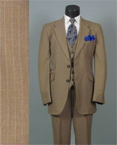 Vintage 1970s Mens Fashion  Three 3 Piece by jauntyrooster on Etsy, $175.00