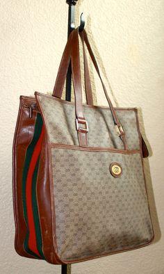 Gucci 1970s Gucci Foldable Shopping Tote pJqgs