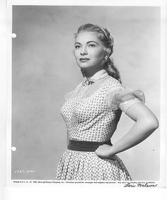 1737-10AD_Lori Nelson Beautiful Actresses, Boobs, High Neck Dress, Dresses, Fashion, Turtleneck Dress, Vestidos, Moda, Fashion Styles