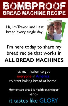 bombproof bread machine recipe
