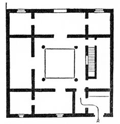 Typical Plan of Ancient Moorish Dwelling, Prepared by C. Uhde