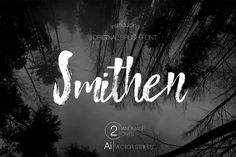 Smithen - A Casual Hand Written Brush Script Font. Smithen Brush is a simple script with a relaxed vibe. The uppercase letters create their own style ...