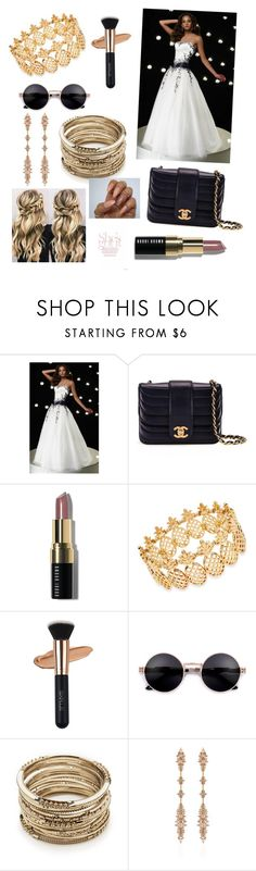 """""""red carpet look"""" by sharmashalini ❤ liked on Polyvore featuring Alyce Paris, Chanel, Bobbi Brown Cosmetics, INC International Concepts, Sole Society and Fernando Jorge"""