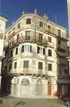 This is an example of an urban building built during the British period. These were taller than the Venetian buildings and went up to 6 storeys. They also had broader frontage with numerous entrances. Corfu Greece, Venetian, Islands, Entrance, Period, Buildings, British, Street View, Urban