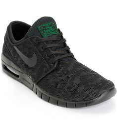 Nike SB Stefan Janoski Air Max Black   Pine Mesh Skate Shoes 2fcc7487b06