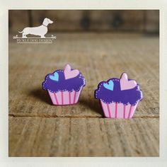 Cupcake Cutie Post Earrings by PickleDogDesign on Etsy, $6.50