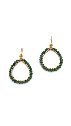 Chan Luu Malachite Hoop Earrings ShopBop