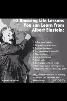 Life Lessons Albert Einstein #positive #wellbeing inspirational quotes #health #happiness #inspiration #motivation #inspiration #dreamoutloud #happy #dream