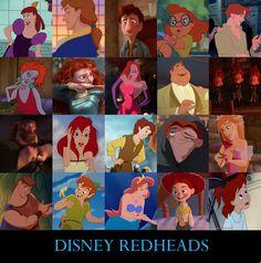 Disney redheads wow