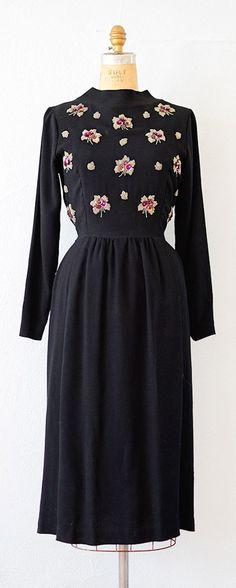 vintage 1940s dress   40s sequined dress #1940s #40sdress #vintage