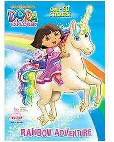 Rainbow Adventure ( Dora the Explorer) (Paperback) by Valerie Walsh Valdes Dora Cartoon, Cute Cartoon, Dora Games, Learning Games For Kids, Anime Child, Dora The Explorer, Unicorn Birthday, Rainbow Birthday