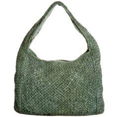 Femme De Legionnaire CONSTANCE Handbag ($225) ❤ liked on Polyvore featuring bags, handbags, purses, green, women's accessories, green purse, green bags, man bag, hand bags and handbags purses