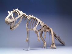 Robert J Lang Origami Model Allosaurus Skeleton