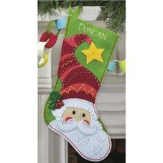 Santa Christmas Stockings by Holidazzle on Etsy, $40.00