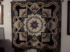 Glacier Star designed by Quiltworx.com, made by Barbara Gary.  Took 1st place at the Roswell, NM show.