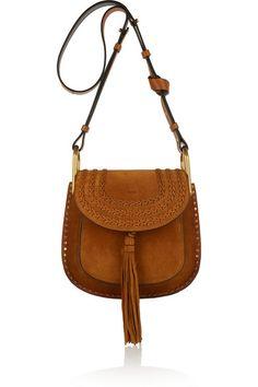 bcef2c952d Chloé - Hudson small whipstitched suede shoulder bag
