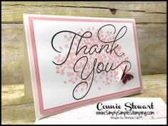 Make It Monday - Thank You Note Card & Envelope | Simply Simple Stamping
