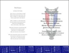 Eagle scout ceremony programs templates eagle scout for Eagle scout court of honor program template