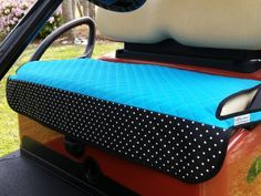 Check out our Turquoise Quilt w/ Polka Dot Trim Golf Chic Bags Ladies Golf Cart Seat Covers! Find the best golf gear and accessories at Lori's Golf Shoppe. Click through now to see this Seat Covers!