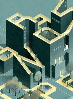 AXO_Brandscape Architects | Modern8 on Behance - Russ Gray