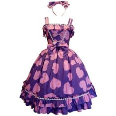 Partiss Womens Sweet Purple JSK Sleeveless Ruffles Lolita Dress ($55) ❤ liked on Polyvore featuring dresses, sleeveless ruffle dress, sleeveless cocktail dress, ruffle cocktail dress, purple dresses and sleeveless flounce dress