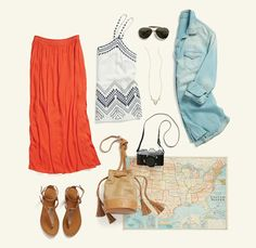 Road trip! Keep cool in breezy layers that protect you from the sun & easily peel off at pit stops. #StylistTip
